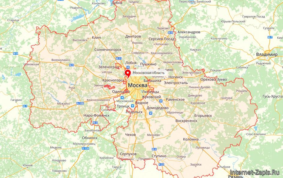 Фото: Карта Московской области